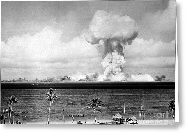 Detonation Greeting Cards - Operation Crossroads, Able Detonation Greeting Card by Science Source