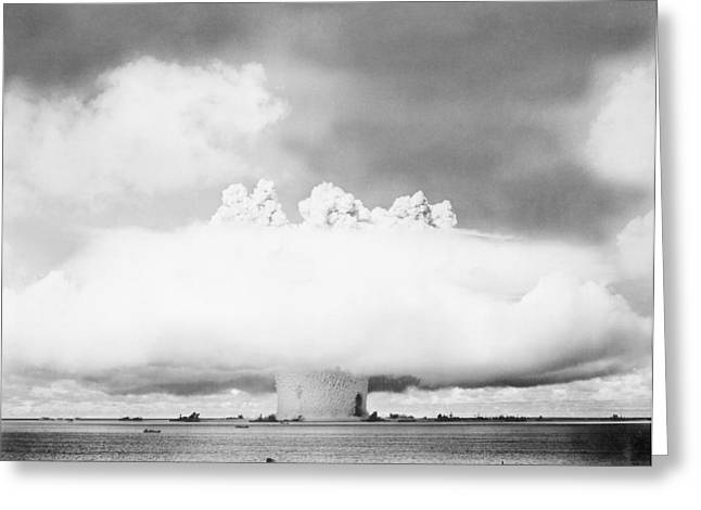 Baker Island Greeting Cards - Operation Crossroads Atom Bomb Test, 1946 Greeting Card by Us National Archives And Records Administration