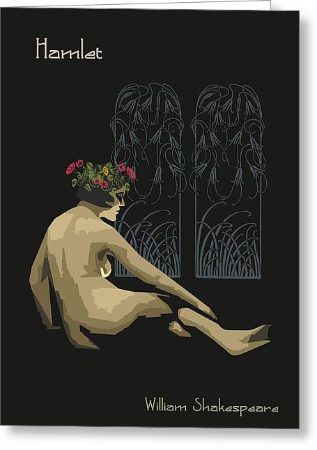 Female. Sensitivity Greeting Cards - Ophelia-Hamlet Greeting Card by Joaquin Abella