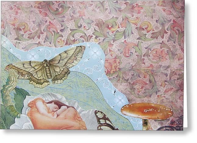 Opium Dreams Greeting Card by Kanchan Mahon