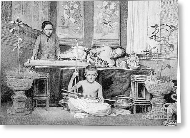 Smoker Greeting Cards - Opium Smoker In China Greeting Card by Science Source