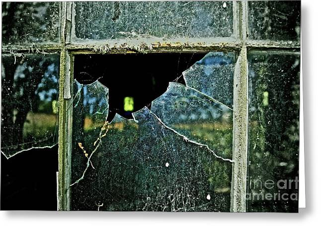 Reflection In Glass Greeting Cards - Opportunity Perhaps Greeting Card by Gwyn Newcombe