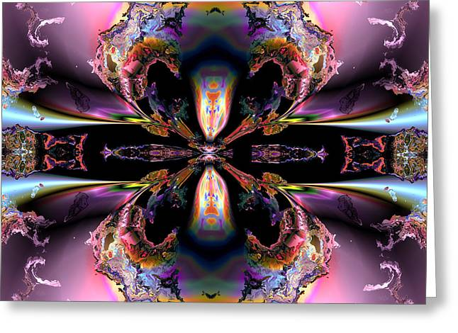 Algorithmic Abstract Digital Art Greeting Cards - Opposing viewpoints Greeting Card by Claude McCoy