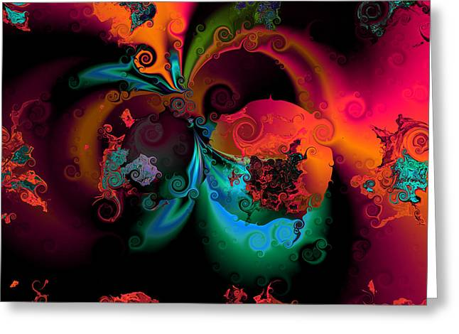 Algorithmic Abstract Digital Art Greeting Cards - Opposit parties Greeting Card by Claude McCoy