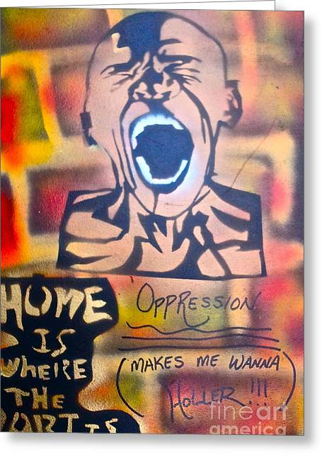 Monopoly Greeting Cards - Oppression Makes me wanna Holler Greeting Card by Tony B Conscious