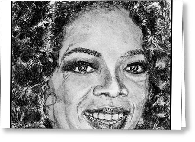 Oprah Winfrey in 2007 Greeting Card by J McCombie