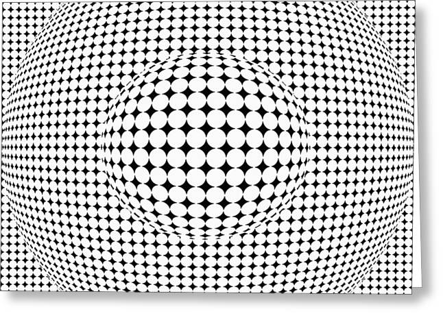 Illusion Greeting Cards - Optical illusion ball in ball Greeting Card by Sumit Mehndiratta