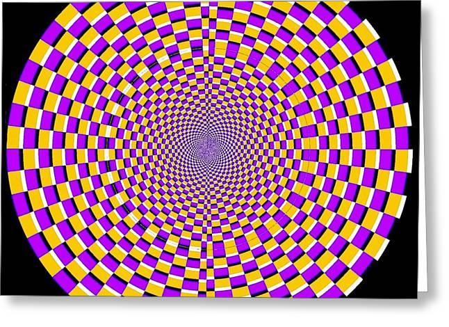 Spun Web Greeting Cards - Optical Illusion Moving Cobweb Greeting Card by Sumit Mehndiratta