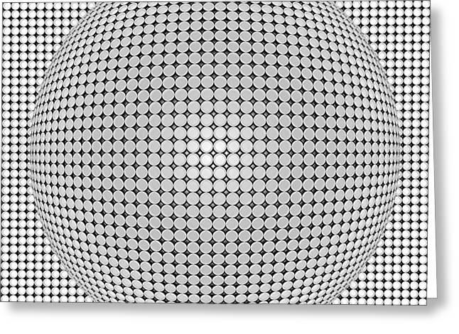 Monochrome Greeting Cards - Optical Illusion Plastic Ball Greeting Card by Sumit Mehndiratta