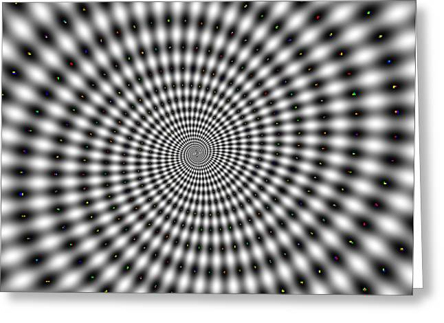 Spun Web Greeting Cards - Optical illusion time machine Greeting Card by Sumit Mehndiratta