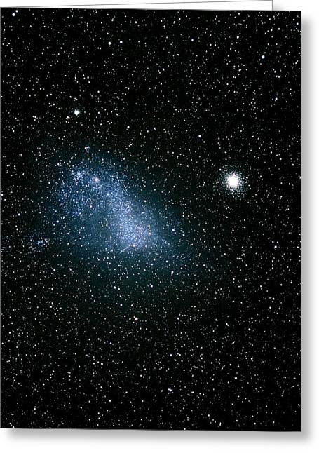 Small Magellanic Cloud Greeting Cards - Optical Image Of The Small Magellanic Cloud Greeting Card by Dr Luke Dodd