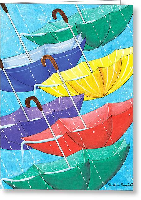 Nyc Posters Paintings Greeting Cards - Optimism  Greeting Card by Kristi L Randall