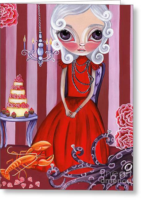 Fantasy Creatures Greeting Cards - Opulent Olive Greeting Card by Jaz Higgins