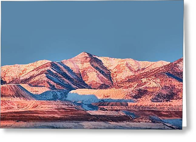 Oquirrh Mountains Utah First Snow Greeting Card by Tracie Kaska