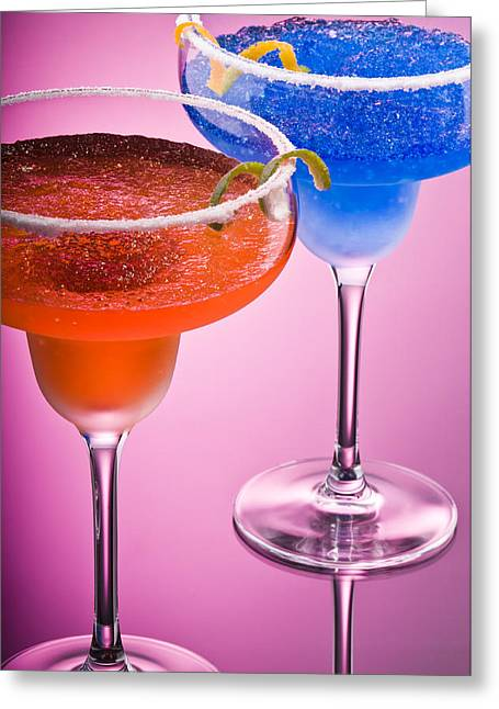Sour Greeting Cards - Orange Cobalt Margarita Greeting Card by Ulrich Schade