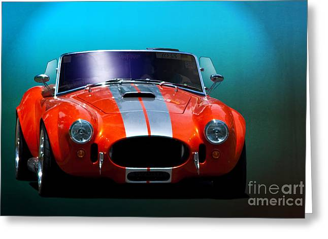 Orange Cobra Greeting Card by Stuart Row