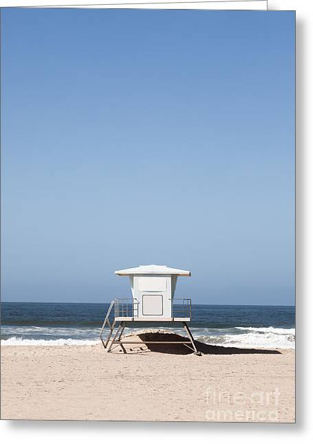 Shack Greeting Cards - Orange County California Lifeguard Tower Greeting Card by Paul Velgos