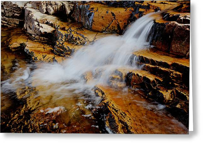 Water Fall Greeting Cards - Orange Falls Greeting Card by Chad Dutson