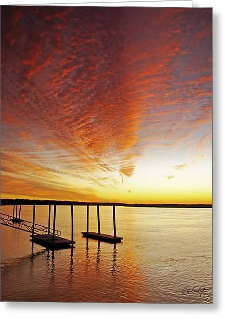 Beaufort Greeting Cards - Orange Glow Greeting Card by Phill  Doherty