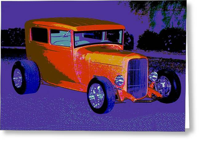 Tricked-out Cars Greeting Cards - Orange is Royal Greeting Card by Chuck Re