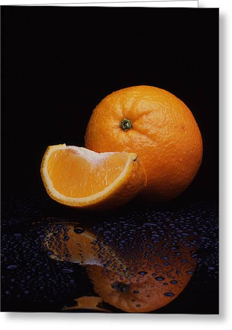 Decor Photography Greeting Cards - Orange Greeting Card by Jerry Taliaferro
