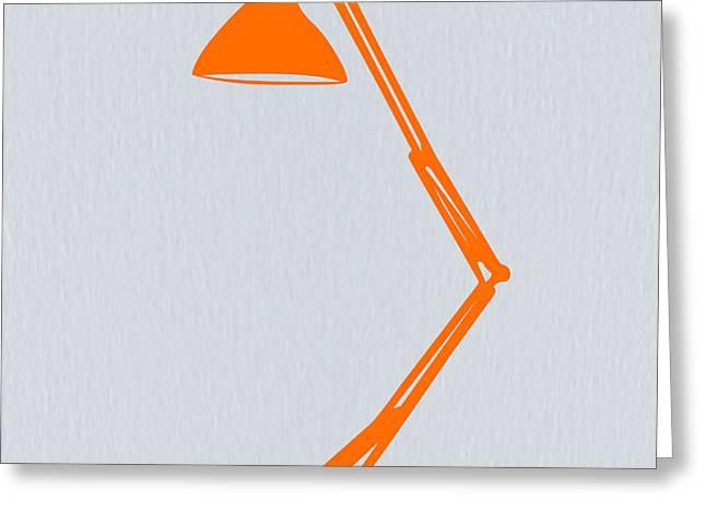 Orange Lamp Greeting Card by Naxart Studio