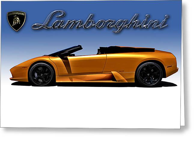 Extreme Greeting Cards - Orange Murcielago Greeting Card by Douglas Pittman