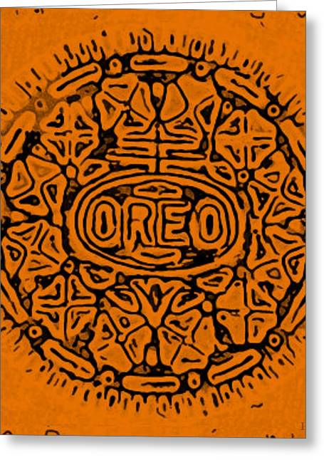 Oreo Greeting Cards - Orange Oreo Greeting Card by Rob Hans