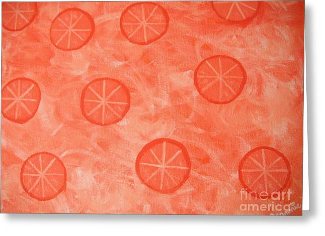 Orange Slices Greeting Card by Jeannie Atwater Jordan Allen