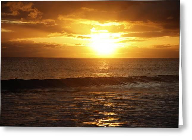 Amazing Sunset Greeting Cards - Orange Sunset Greeting Card by Brandon Tabiolo - Printscapes