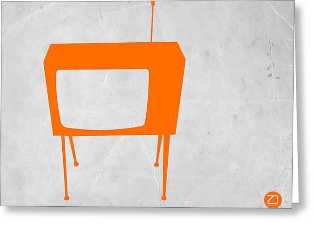 Orange TV Greeting Card by Naxart Studio