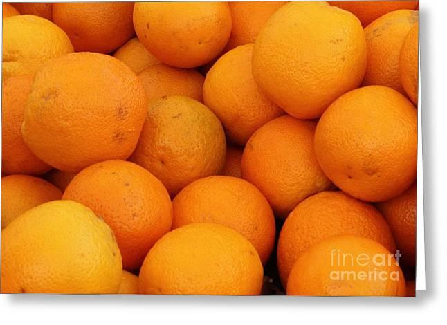 Orange Greeting Cards - Oranges Greeting Card by Carol Groenen