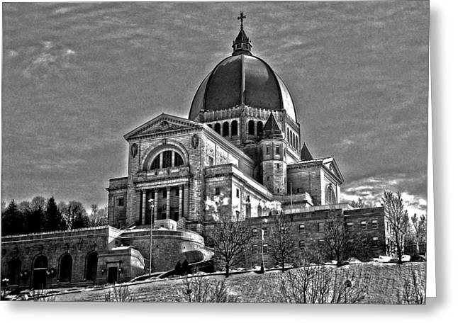 Coldness Greeting Cards - Oratoire St-Joseph du Mont-Royal Greeting Card by Juergen Weiss