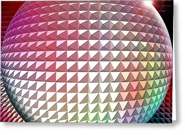 Orb It Greeting Card by Cristophers Dream Artistry