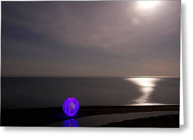Orb Greeting Cards - Orb on the Beach Greeting Card by Cale Best