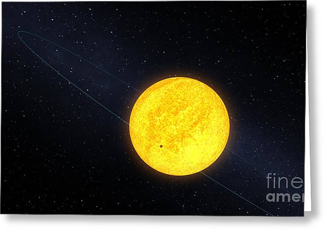 Exoplanet Greeting Cards - Orbit Of Kepler-10b Greeting Card by NASA/Science Source