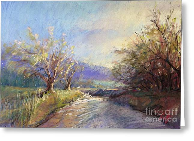 Spring Pastels Greeting Cards - Orchard Lane Greeting Card by Pamela Pretty