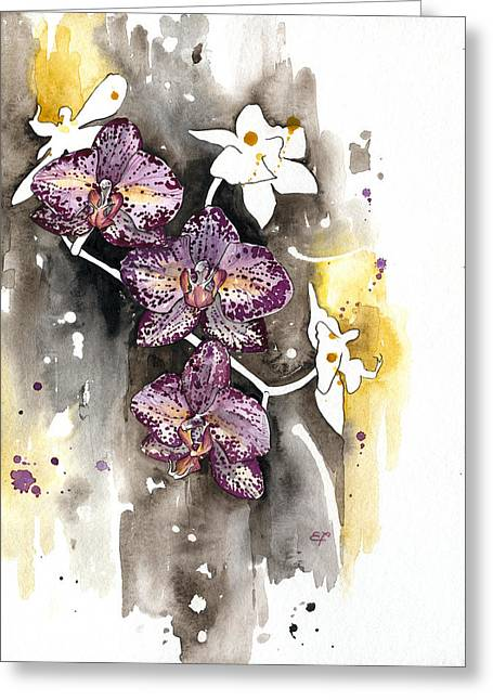 Yakubovich Greeting Cards - ORCHID 13 Elena Yakubovich Greeting Card by Elena Yakubovich