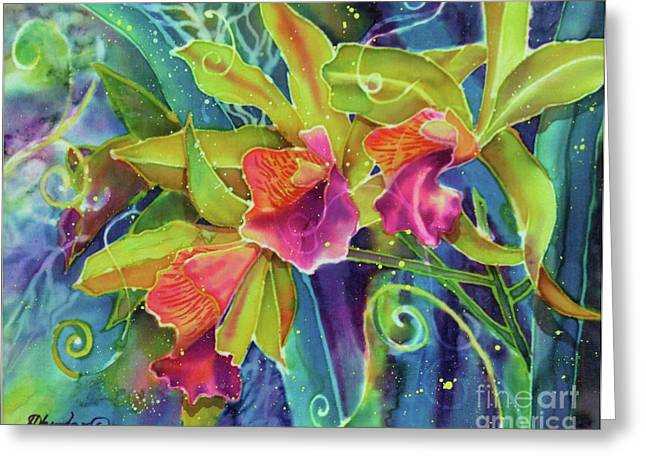 Cattleya Greeting Cards - Orchid Series 14 Greeting Card by Deborah Younglao