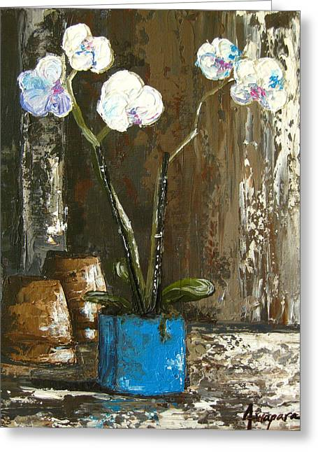 Interior Still Life Greeting Cards - Lovely Orchids Greeting Card by Patricia Awapara