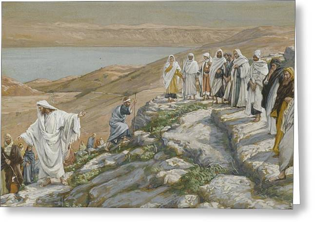 Tissot Greeting Cards - Ordaining of the Twelve Apostles Greeting Card by Tissot