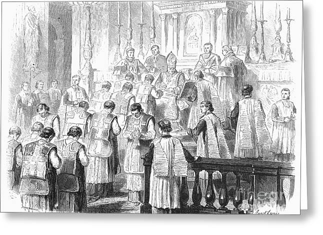 Bowing Greeting Cards - Ordination Of Priest, 1870 Greeting Card by Granger