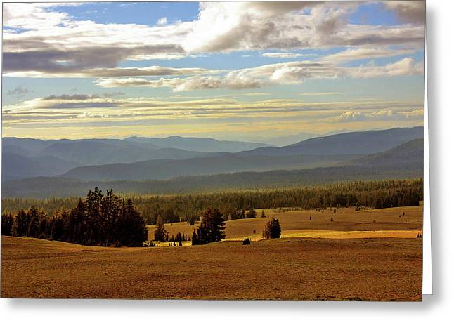 Hazy Days Greeting Cards - Oregon - Land of the setting sun Greeting Card by Christine Till