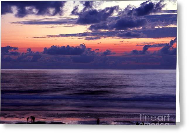 Lincoln City Greeting Cards - Oregon - Lincoln City Sunset Greeting Card by Terry Elniski