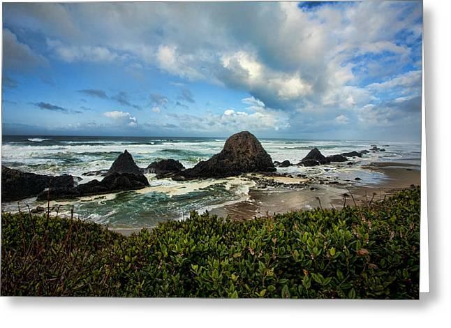 Oregon Photos Greeting Cards - Oregon Coast Greeting Card by Bonnie Bruno