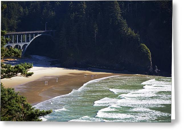 Beach Photography Greeting Cards - Oregon Coast No. 4 Greeting Card by Belinda Greb