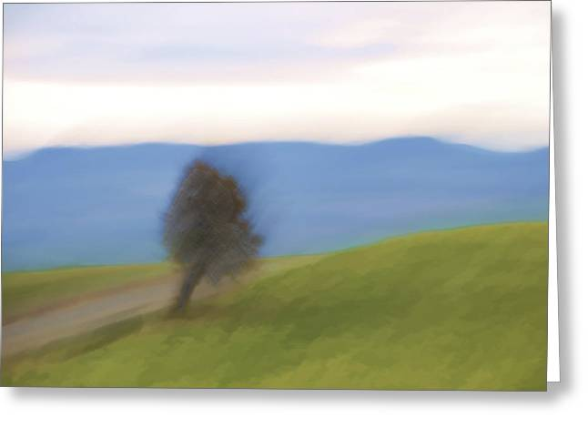Oregon Country Road Greeting Card by Carol Leigh