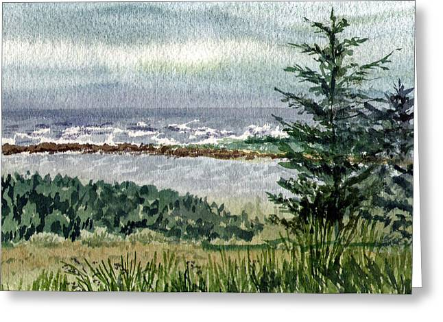Oregon Shore Greeting Card by Irina Sztukowski