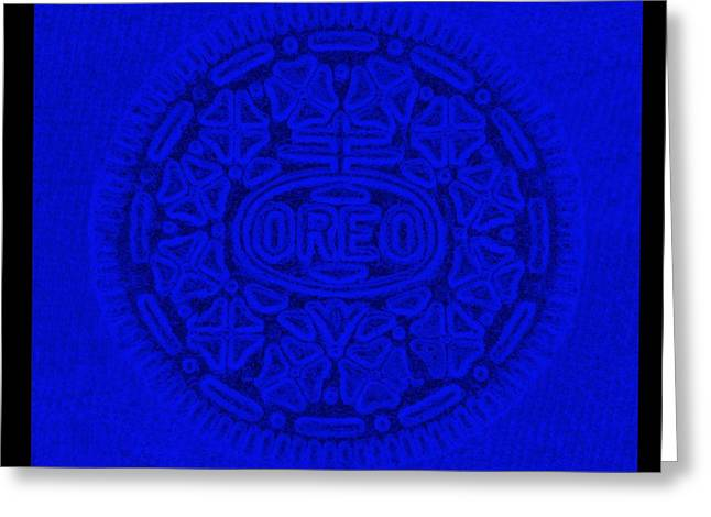Oreo Greeting Cards - OREO in BLUE Greeting Card by Rob Hans