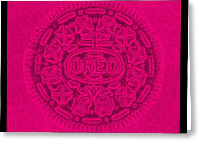 Oreo Greeting Cards - OREO in HOT PINK Greeting Card by Rob Hans